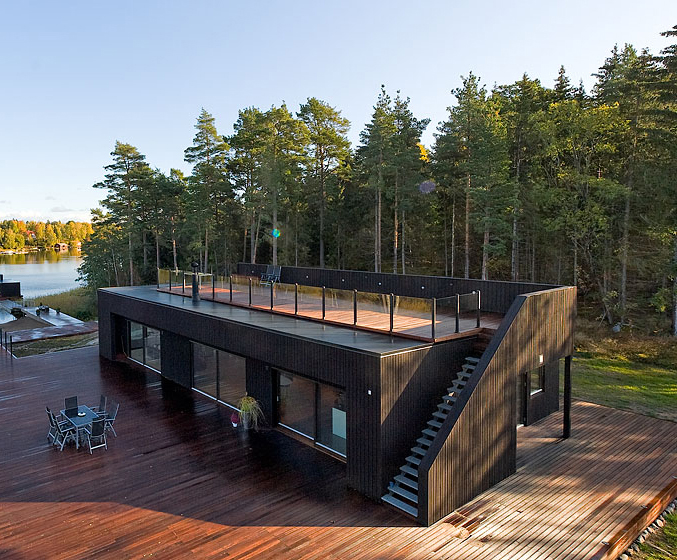 Shipping container cabin & Outdoor Living Modern Cabin u2013 2by6